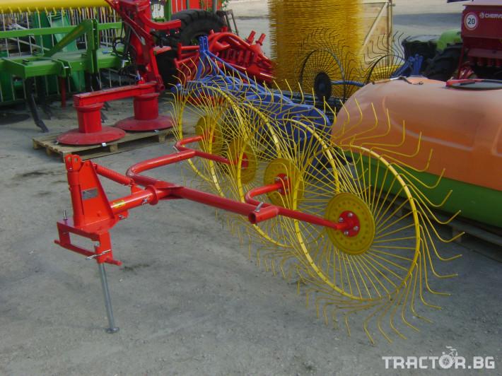 Сенообръщачки Сеносъбирач с 3-4 -5 работни органа. Специална пакетна цена при закупуване на косачка 165 см и сеносъбирач с 4 работни органа! 3 - Трактор БГ